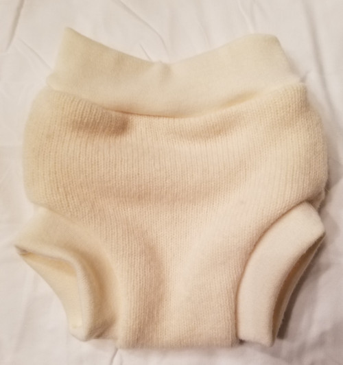 Small Cream Cashmere Wool Diaper Cover