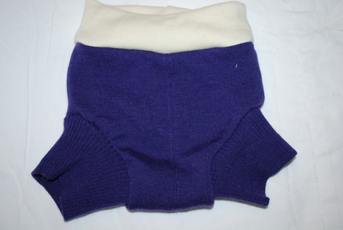 Purple Small Merino Wool Diaper Cover