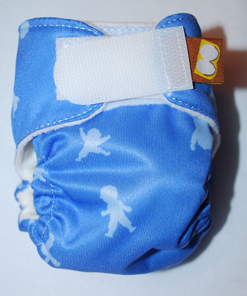 Kids on Blue Preemie Diaper (size 1)