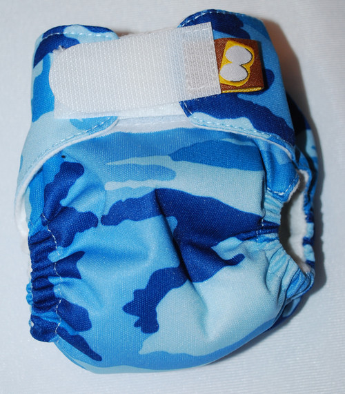 Blue Camouflage Preemie Diaper (size 1)