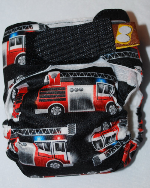 Fire Trucks Preemie Diaper (size 1)