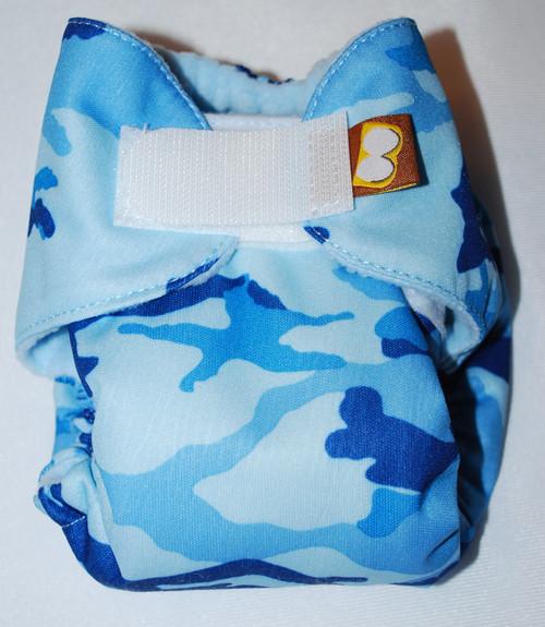 Blue Camouflage Preemie AIO Diaper Size 2