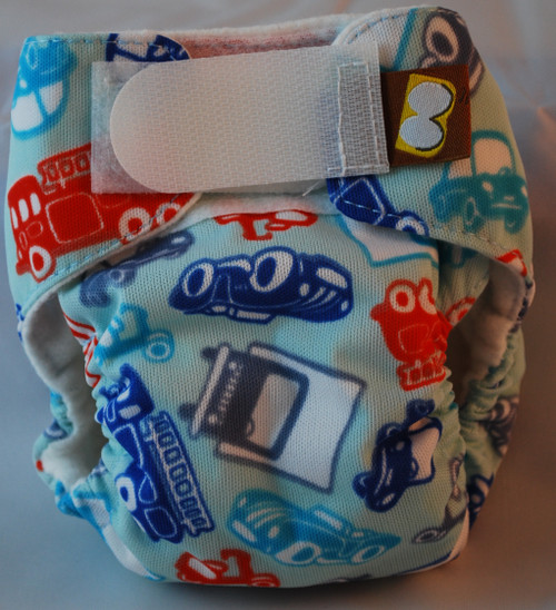 Cars on Blue Preemie Diaper (size 1)