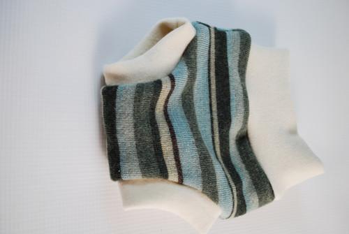 Newborn  Striped Merino Wool Diaper Cover