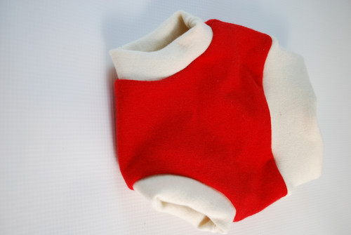 Paprika Red Small (1-6 months)  Merino Wool Diaper Cover