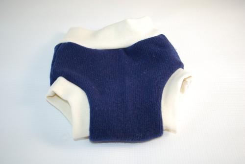 Small Blue Merino Wool Diaper Cover
