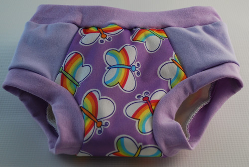 Rainbow Butterflies Partially Waterproof Training Pants Size 3T