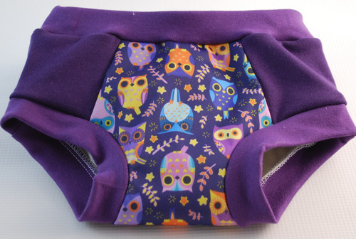 Purple Owls Partially Waterproof Training Pants Size 3T