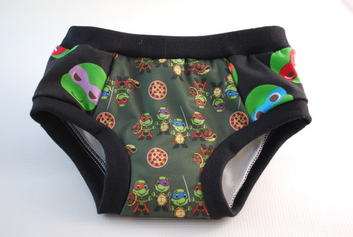 Turtles Partially Waterproof Training Pants Size 4T
