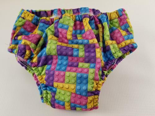 Pastel Building Blocks Waterproof Training Pants in Size Medium