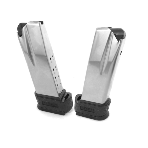 Grip for Springfield XD Compact .45 Extended Magazine Rubber-Black