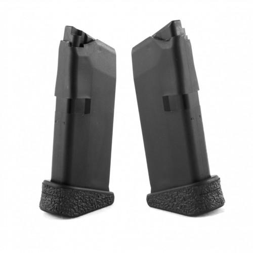 TALON Grips for Grip for Genuine Glock G43 6 RD Ext. FP (Rubber-Black)