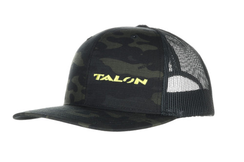 TALON Grips Trucker Hat in Black Multicam Camo
