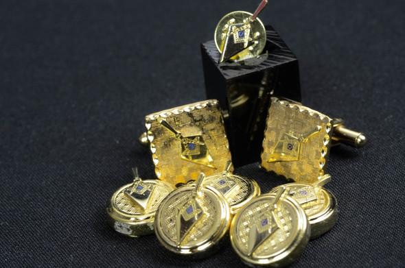 Gold Trowel / 5 Pc Button Cover Set
