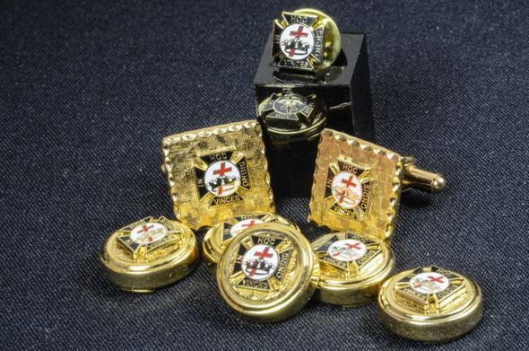 Knight Templar Commandry Button Cover Set