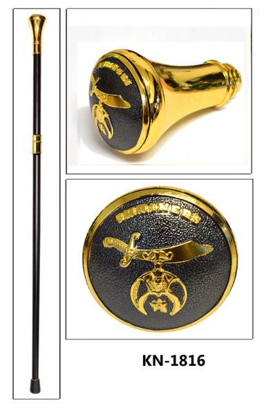 Black Antique Shrine Gold Cane