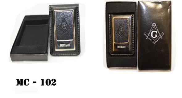Leather S&C Money Clip