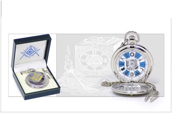 Craft Blue & White Pocket Watch