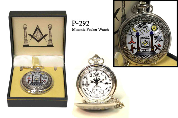 Masonic Tool Pocket Watch