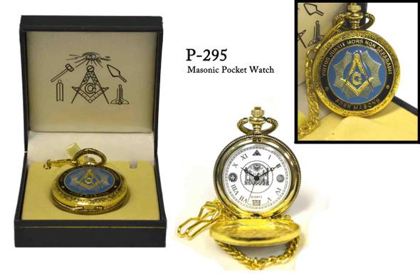 Blue Antique Masonic Pocket Watch