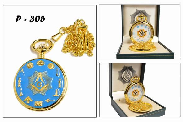 Lt. Blue Craft Pocket Watch
