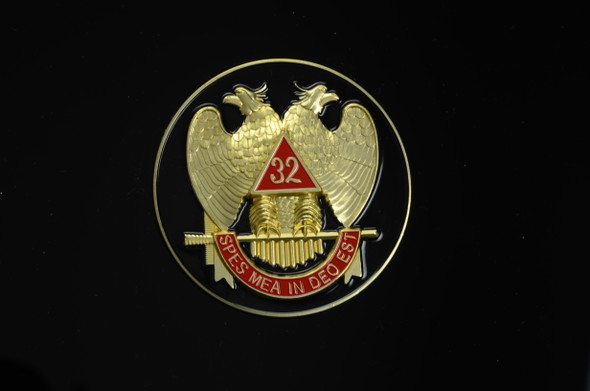Scottish Rite Auto Emblem Blk
