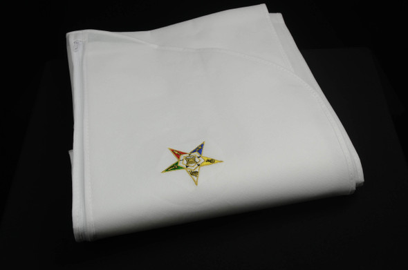 Embroidered White Gown Bag..