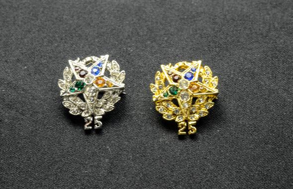 Jeweled Member Pin  25Yr ..