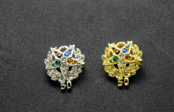 Jeweled Member Pin   50Yr ..