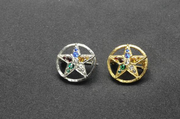 Jeweled Member Pin - Sm. Star in Circle ....
