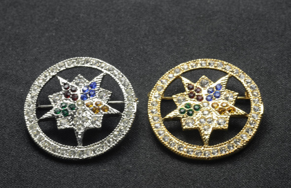 Jeweled Member Pin - Lg Jeweled Star