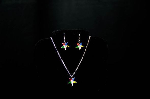 Member Star Jewelry Set. Earrings and/or Necklace. Available in gold or silver tones.