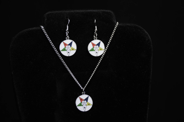 Member Disk Star Jewelry Set. Earrings and/or Necklace. Available in gold or silver tones.