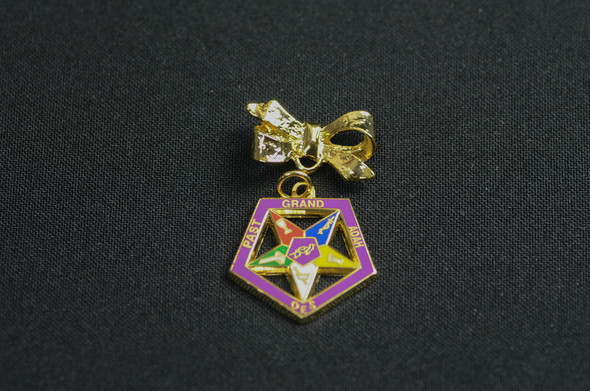 Past Appointed Grand Officer Charm Pin - Star Point Adah