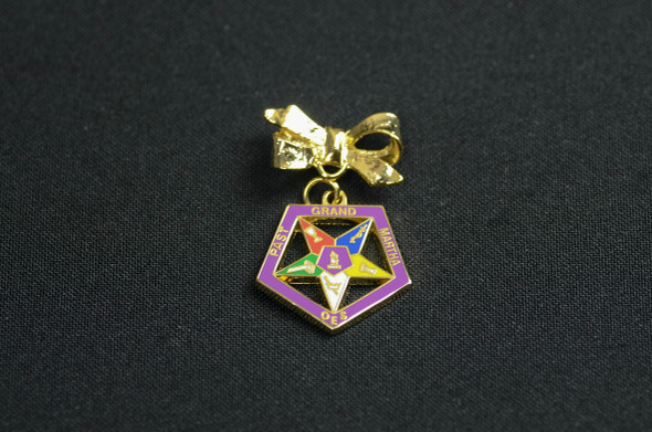 Past Appointed Grand Officer Charm Pin - Star Point Martha