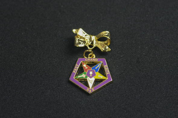 Past Appointed Grand Officer Charm Pin - Star Point Electa