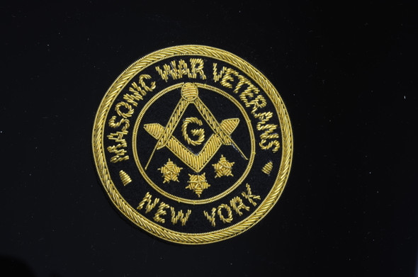 Your custom designed Magnetic Patches. Hand Embroidered bullion not machined stitched. Specific to your organization or group. Worn on jackets or suits.