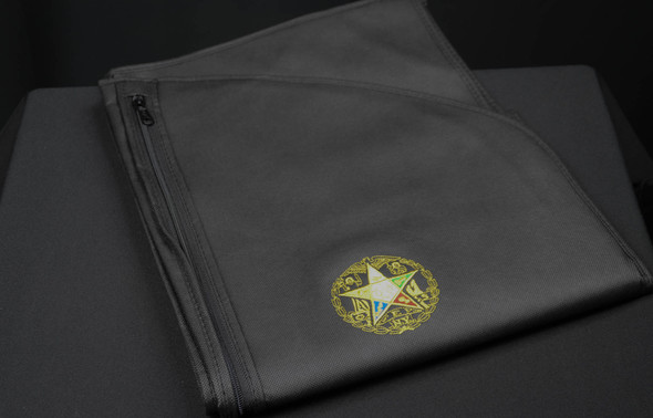 24 x 46 Black Tuxedo Bag. Soft, Breathable and Water repelant with credential pocket. Available with embroidered OES-NY Seal. Also can be used for smaller gowns or skirts.