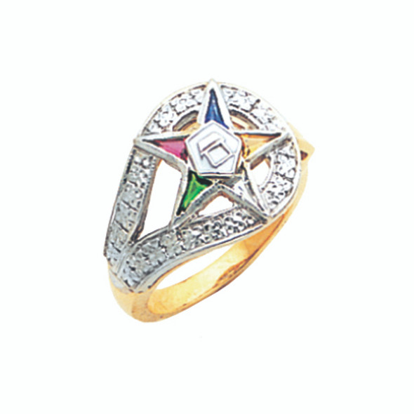 O.E.S. Gold Ring - GLC262ES