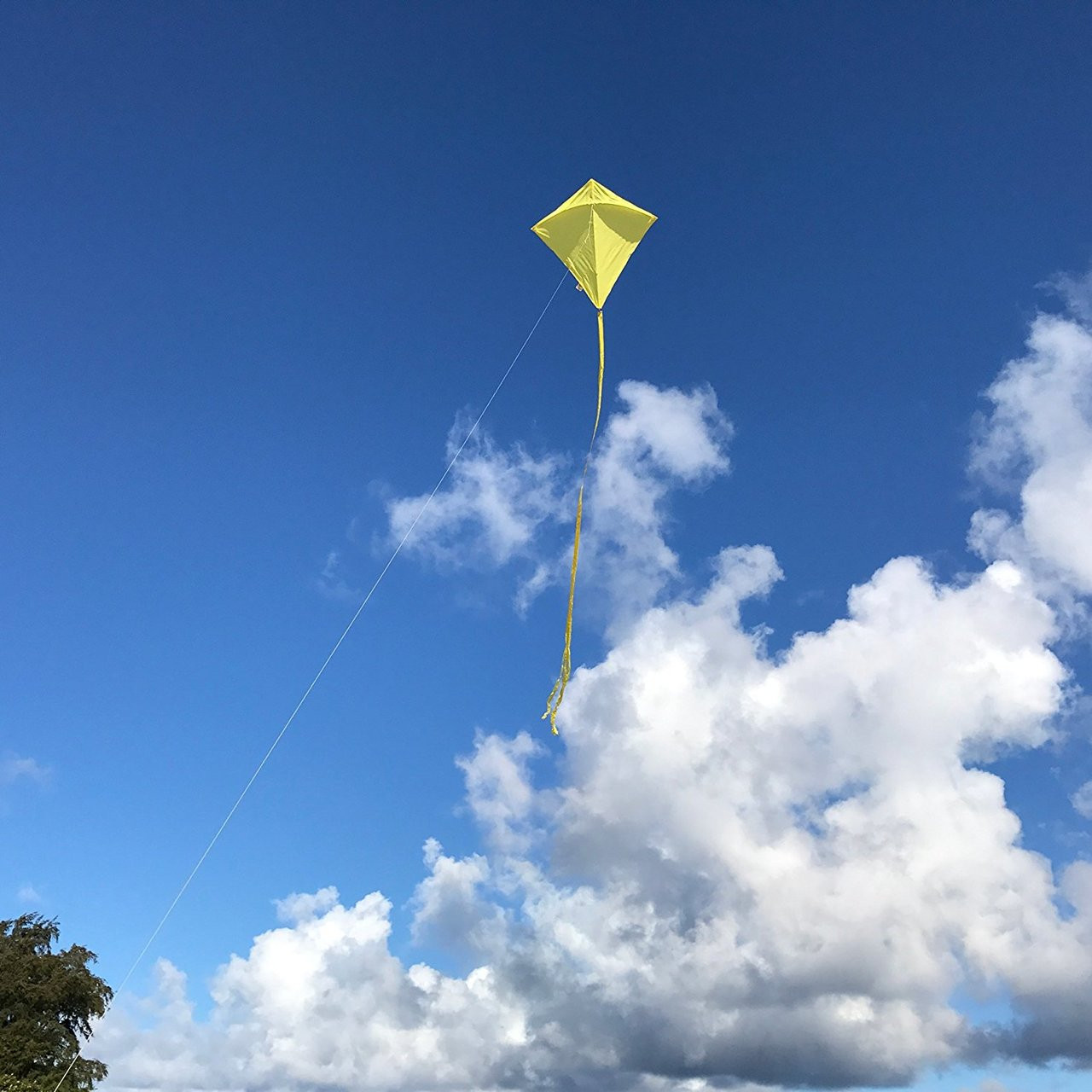 "30"" Yellow Diamond Kite"