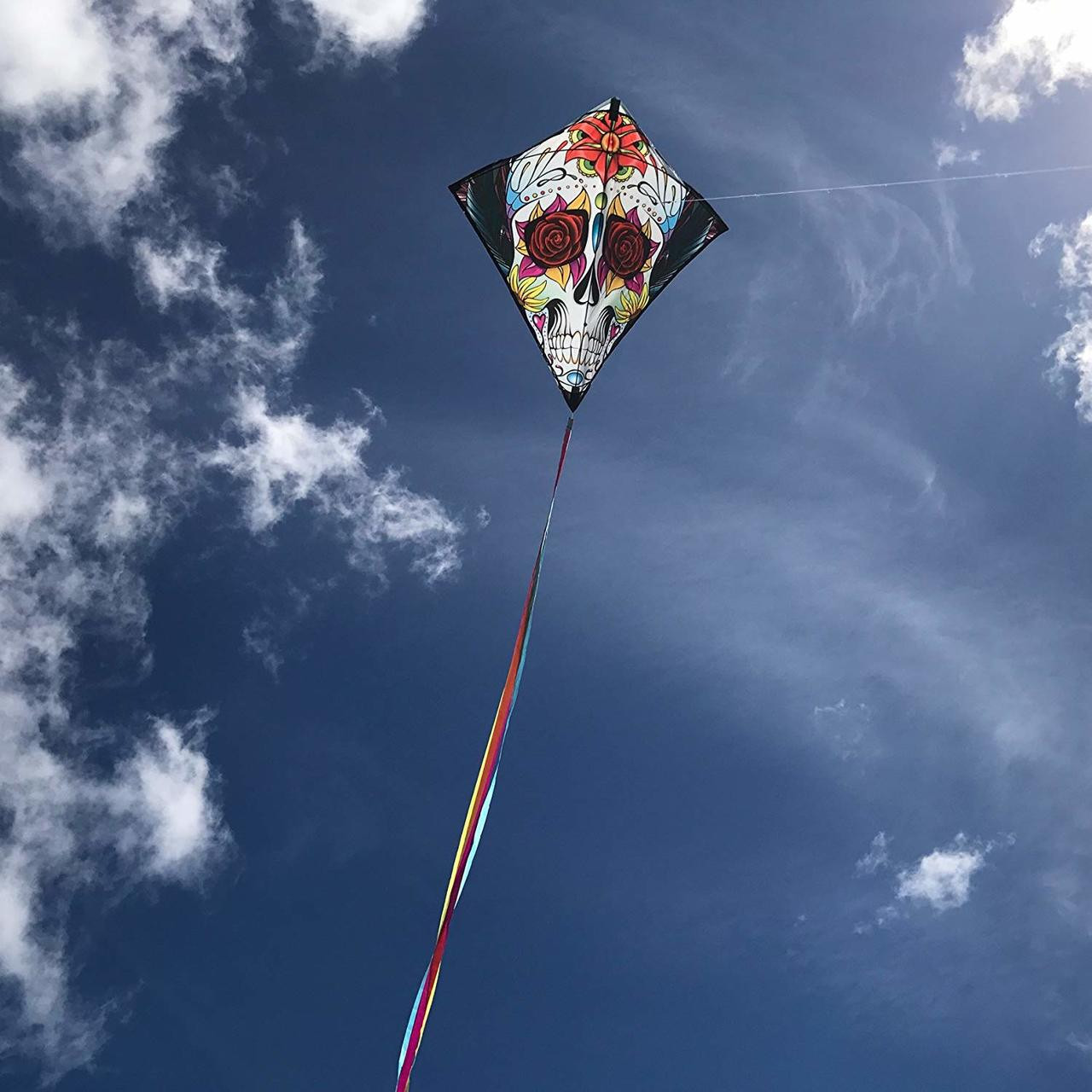 "30"" SugarSkull Diamond Kite"