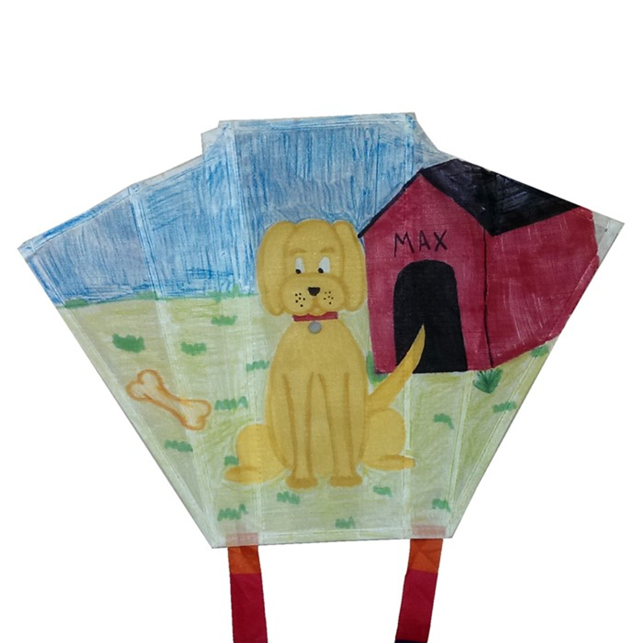 "18"" Sled Coloring Kite W/ Crayons"