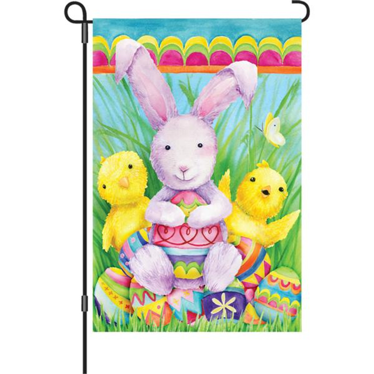 12 in. Flag - Bunny And Friends