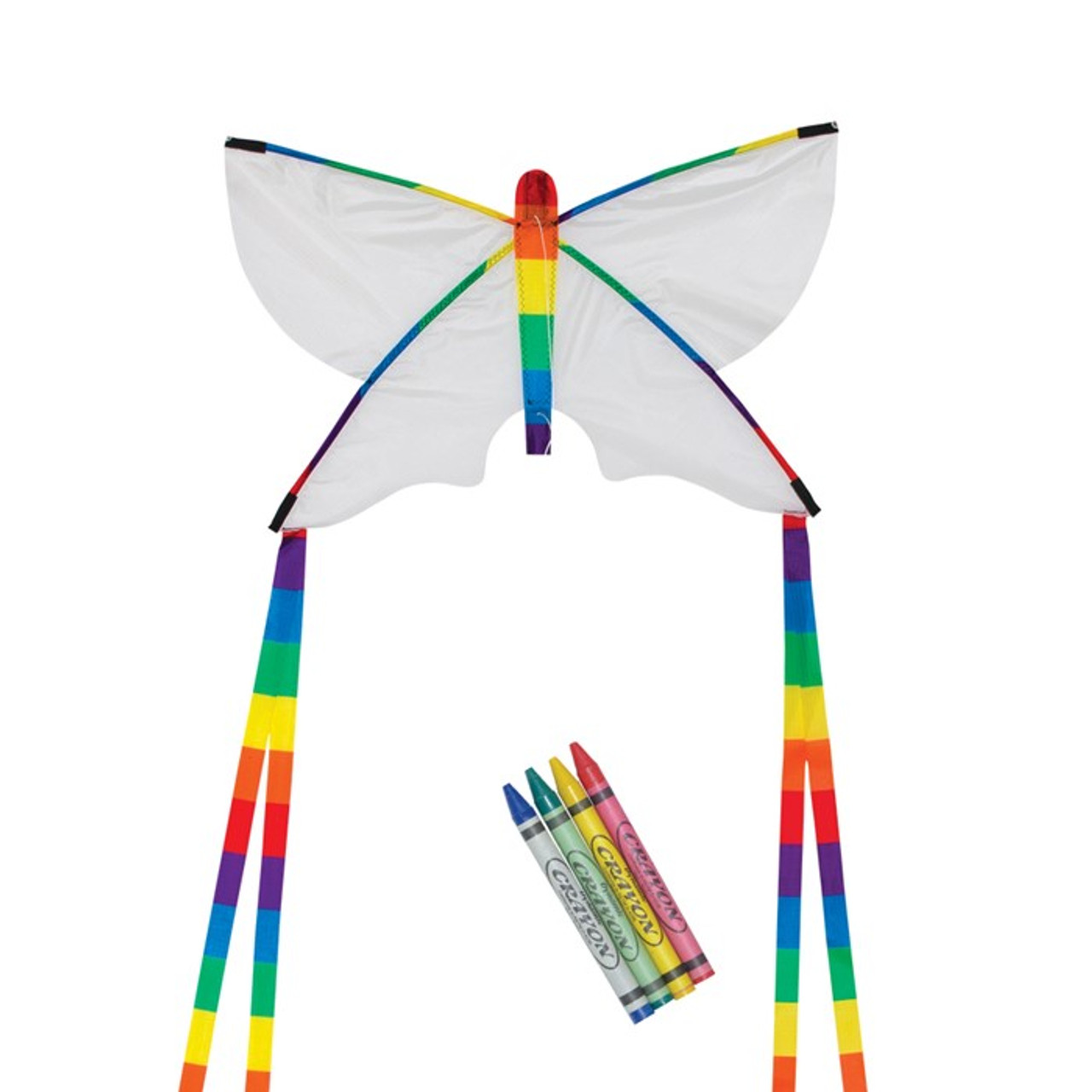 """23"""" Butterfly Coloring Kite W/ Crayons"""