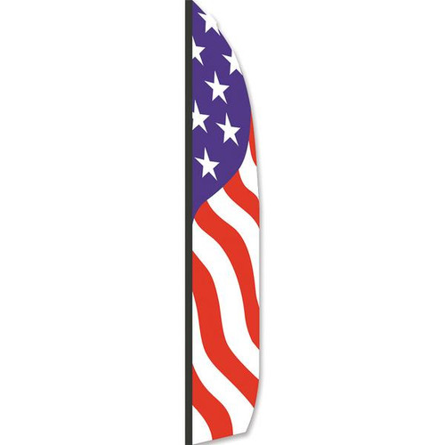 16 Ft. Feather Banner Patriotic