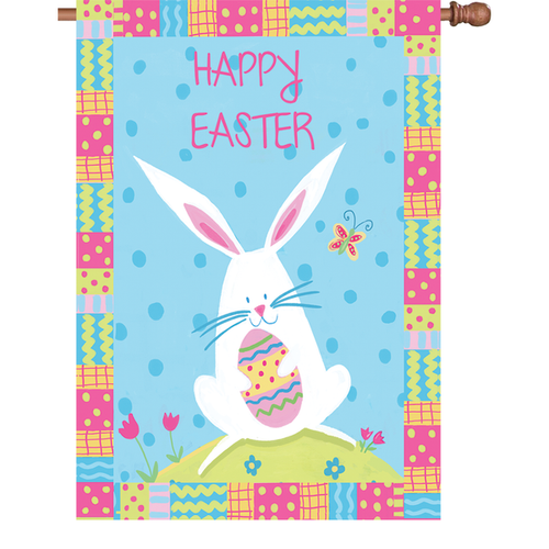 28 in. Flag - Bunny Easter
