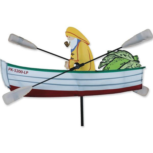 18 In. Fisherman Whirligig