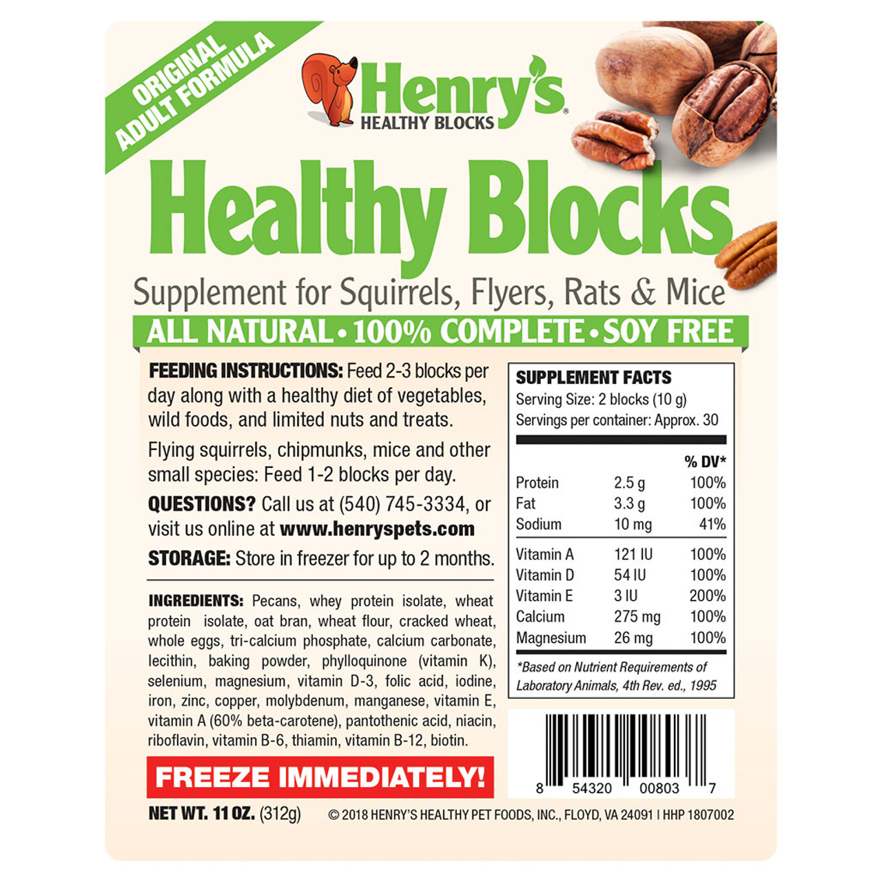 Healthy Blocks - Original Adult Formula