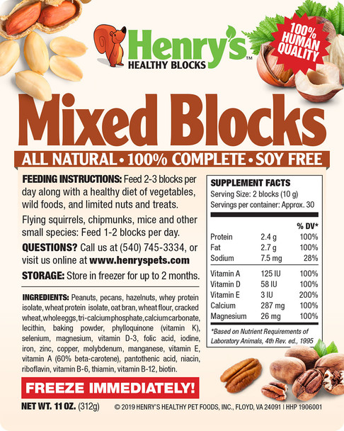 Henry's Mixed Blocks - a variety pack of all the different flavors