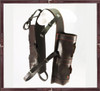 Umpire carrier balls bag will hold 6 outdoor polo balls. All dark brown leather.